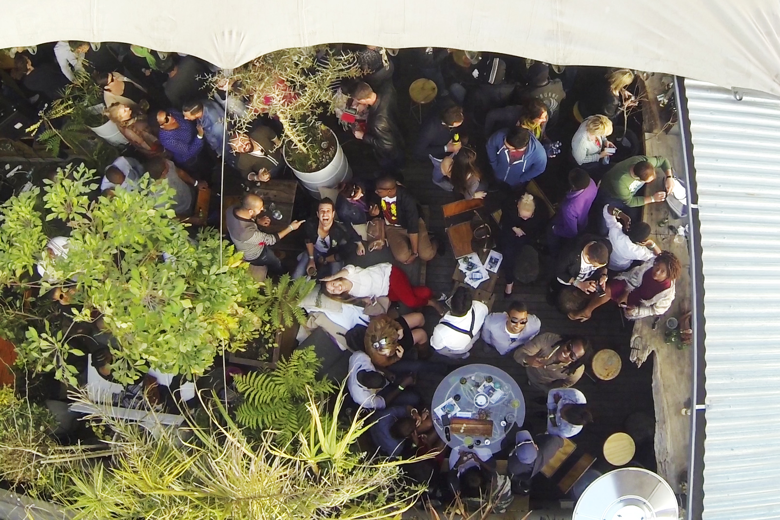 Roof top aerial party JHB