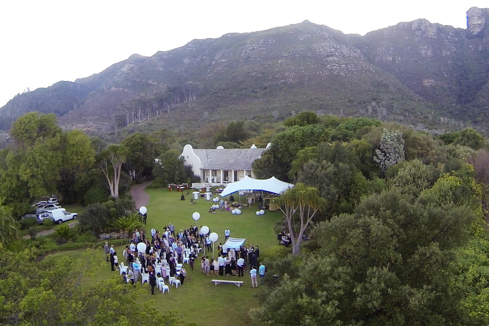 Wedding aerial photo Cape Town 2 w